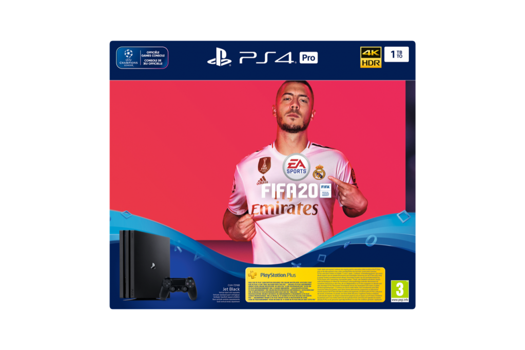 Console PS4 PRO - 1To Black - FIFA 20