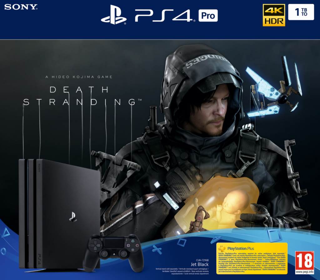 Console PS4 PRO - 1To Black - Death Stranding