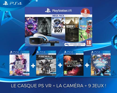 PLAYSTATION VR MEGA PACK 9 GAMES  (Only PS4)
