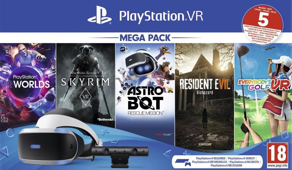 PLAYSTATION VR MEGA PACK 4 (Only PS4)