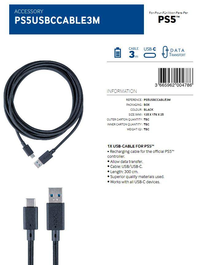 Charging and Data Transfer USB Cable 3M  (BigBen)_2