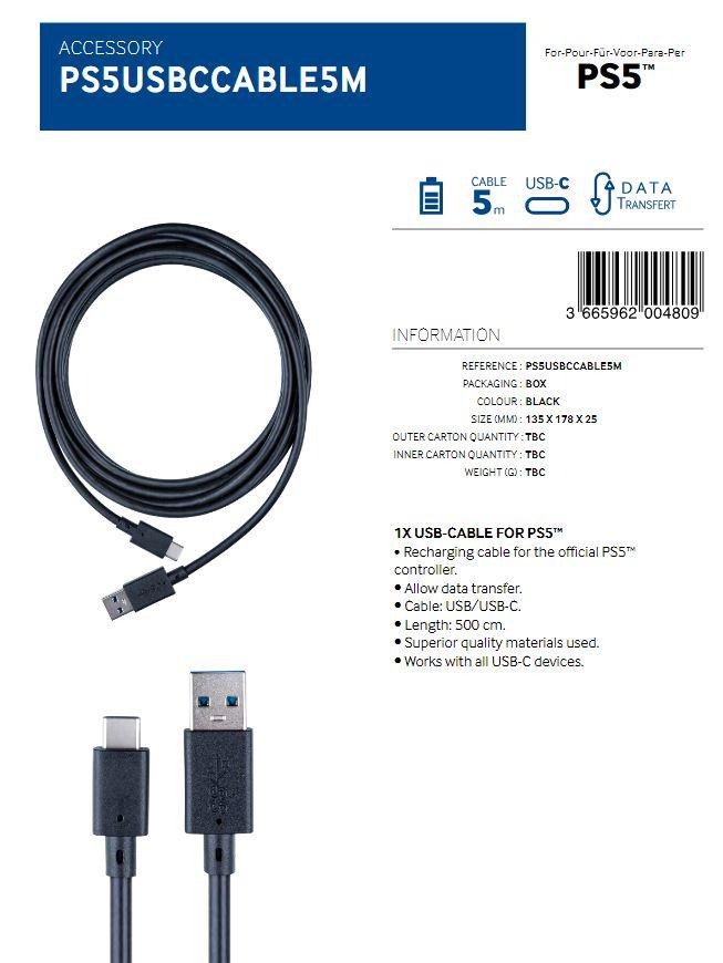 Charging and Data Transfer USB Cable 5M  (BigBen)_2