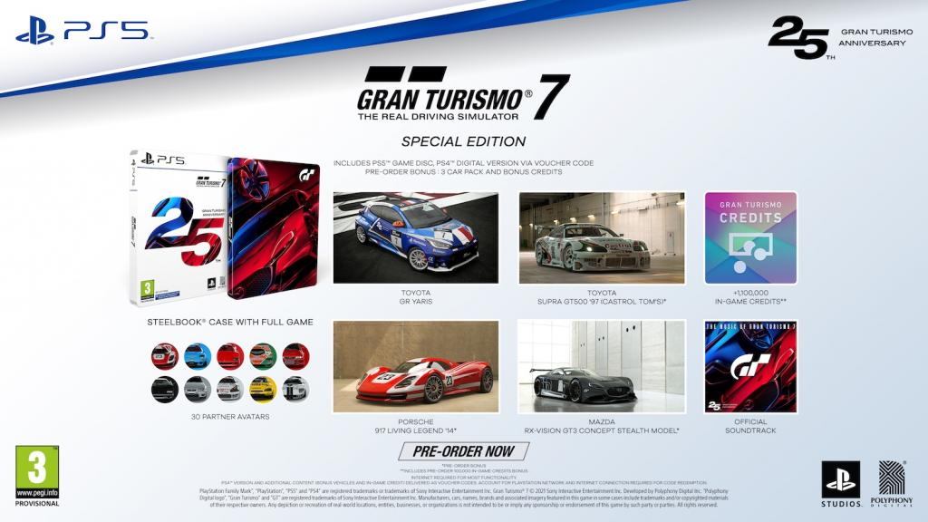 Gran Turismo 7 - 25th Anniversary Edition (incl PS5 Disc and PS4 Code)_1