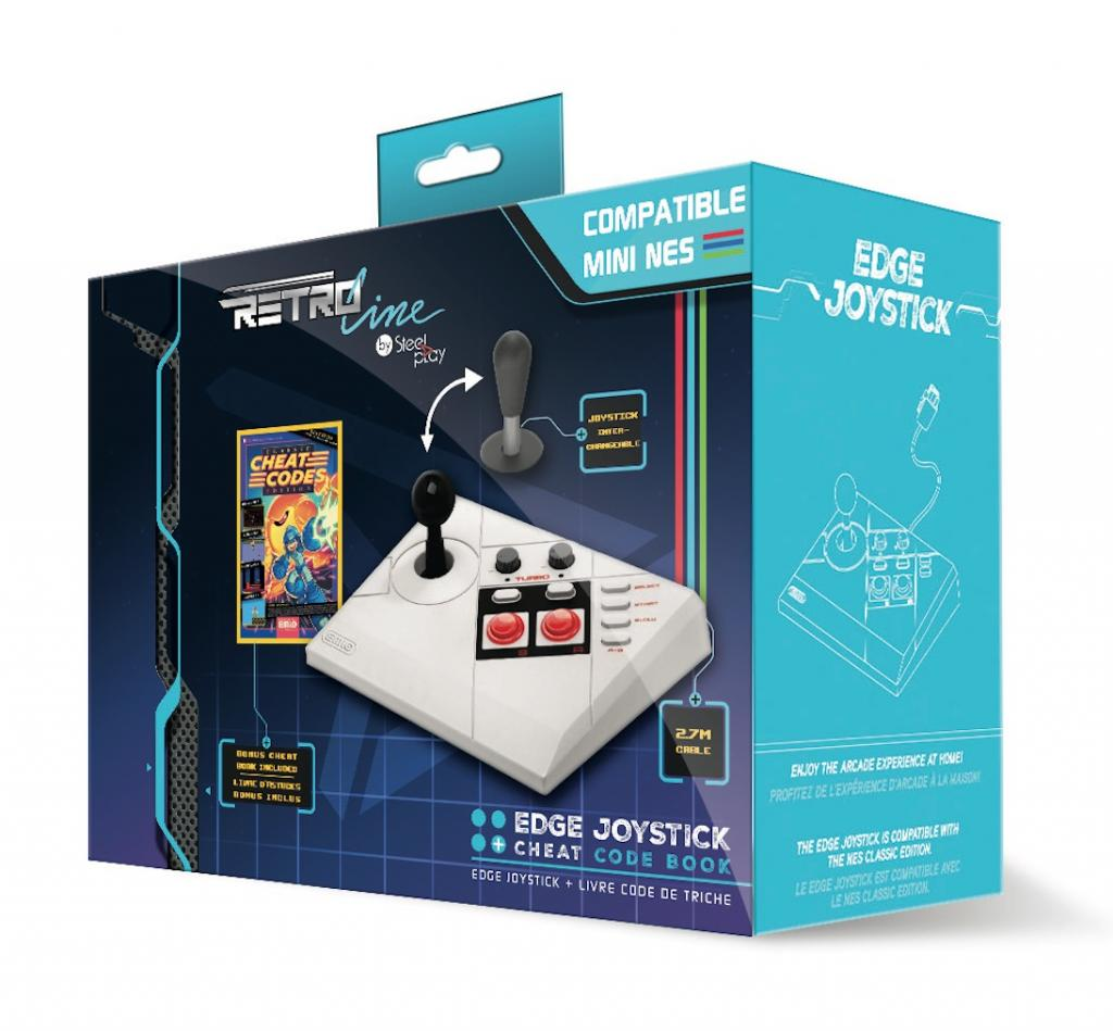 STEELPLAY - Arcade Stick Edge + Livre Code de Triche (Mini Nes)