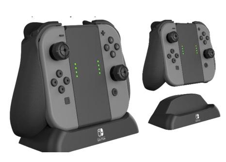 PDP - Official Pro Player Grip & Charge for Nintendo Switch