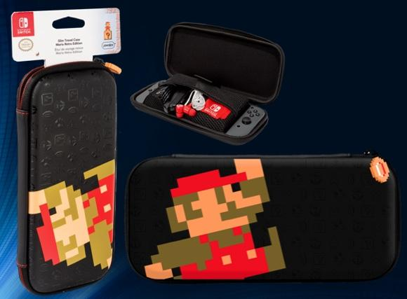 PDP - Official Slim Travel Case Mario Retro for Switch & Switch Lite
