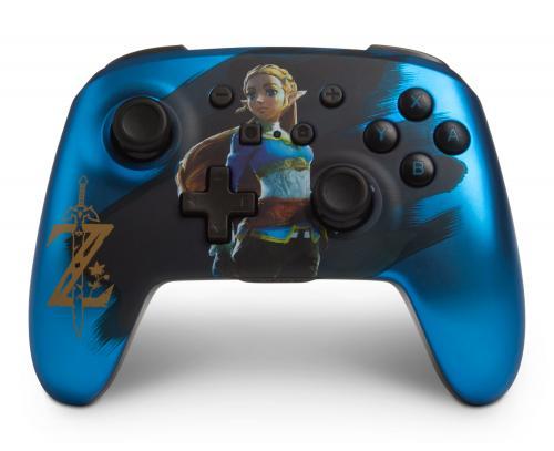 POWER A - Wireless Controller Switch - Blue Chrome Zelda