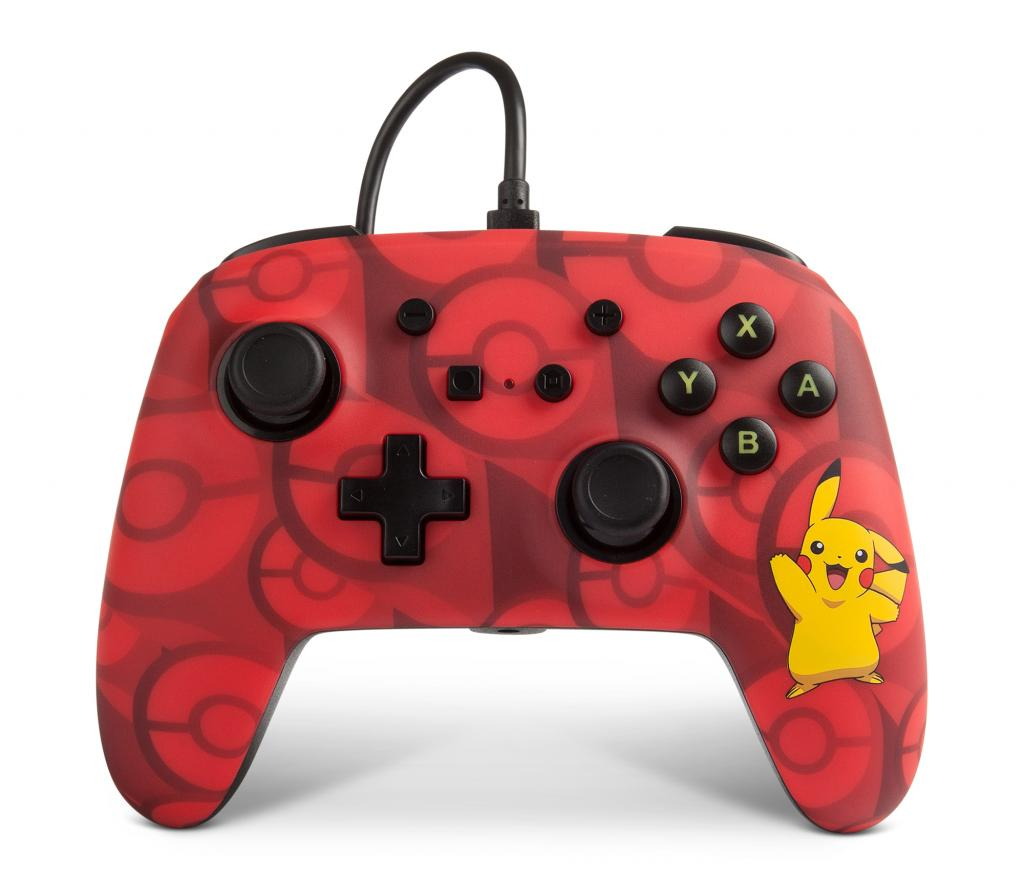 POWER A - Wired Controller Pokemon Pikachu Red for Nintendo Switch NEW_1