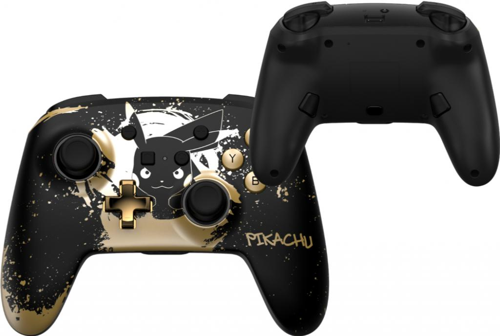 POWER A - Wireless Enhanced Controller Pikachu Black/Gold for Switch_1