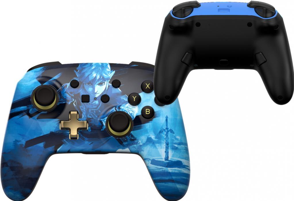 POWER A - Wireless Enhanced Controller Link Blue for Nintendo Switch_1