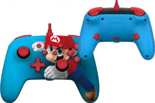 POWER A - Wired Enhanced Controller Mario Punch for Nintendo Switch