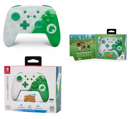 POWER A - Wireless Enhanced Switch Controller Animal Crossing - Nook