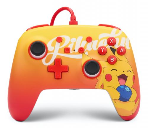 POWER A - Wired Enhanced Controller Berry Happy Pikachu - Pokemon