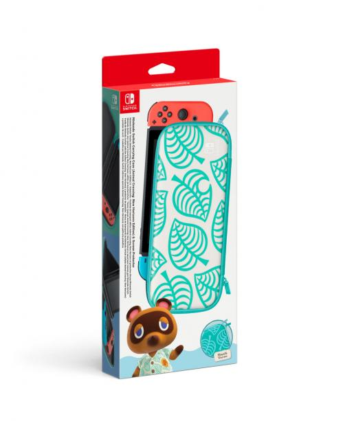 Carry Case + Screen Protector - Animal Crossing New Horizons - Switch