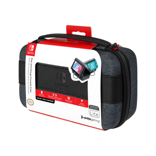 Official Switch Play & Charge Console Case for Sw & SW Lite