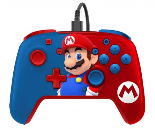 Official Faceoff Deluxe+ Audio Wired Mario Controller
