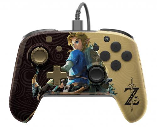 Official Faceoff Deluxe+ Audio Wired Zelda Controller