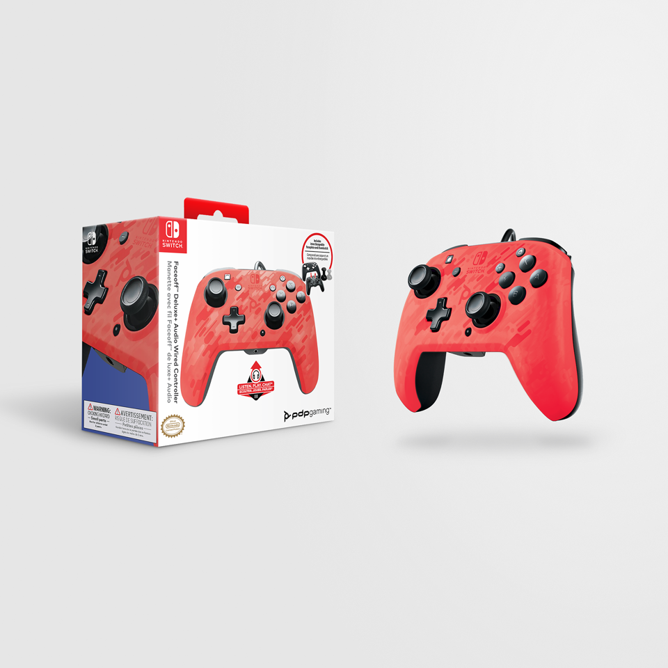 Official Faceoff Deluxe+ Audio Wired Red Controller - New Design_1