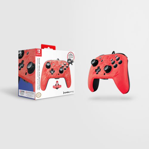 Official Faceoff Deluxe+ Audio Wired Red Controller - New Design