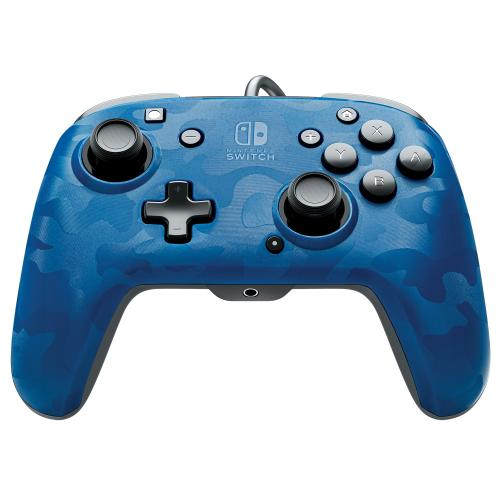 Official Faceoff Deluxe+ Audio Wired Blue Controller