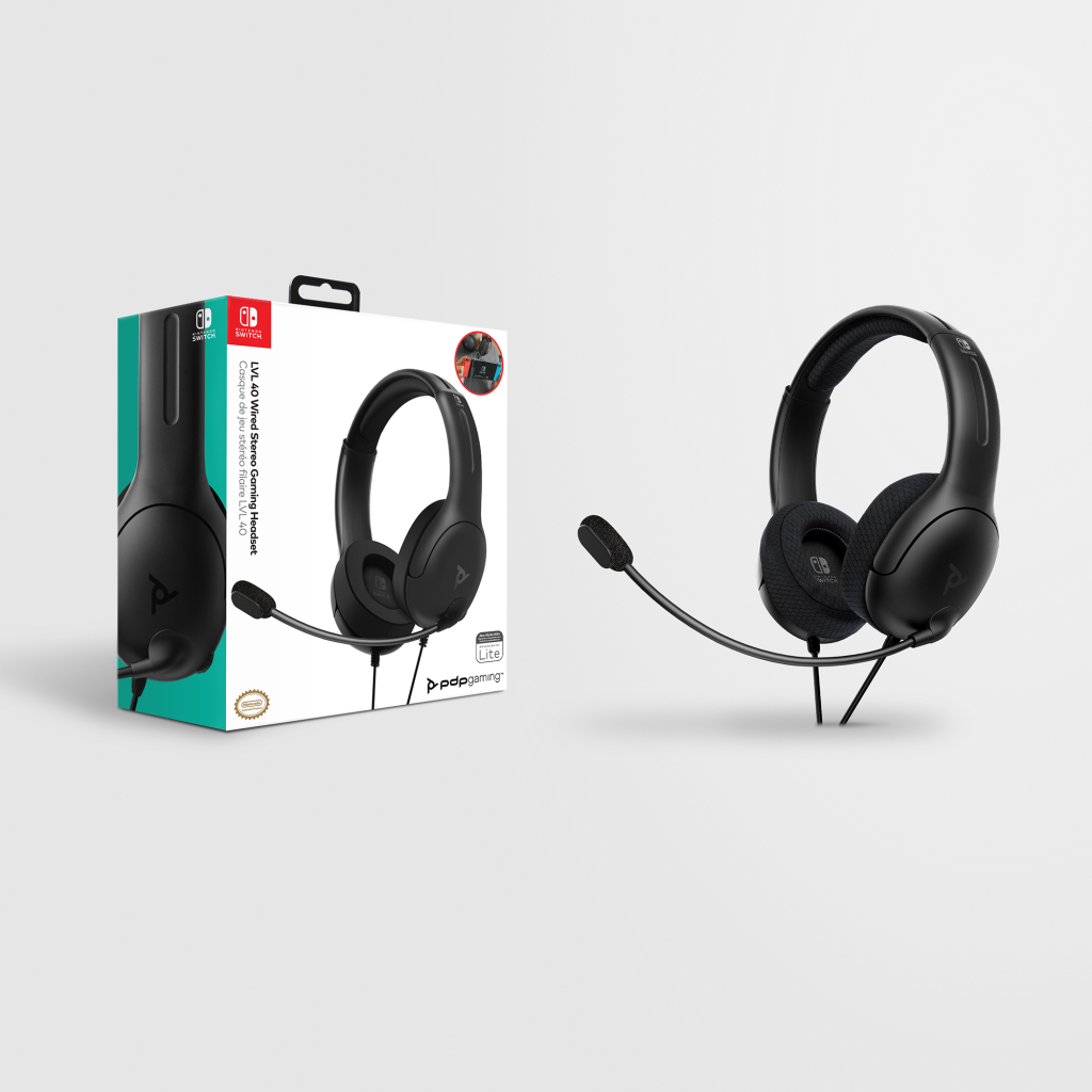 Official Nintendo Wired Headset LVL40 Switch Black_1