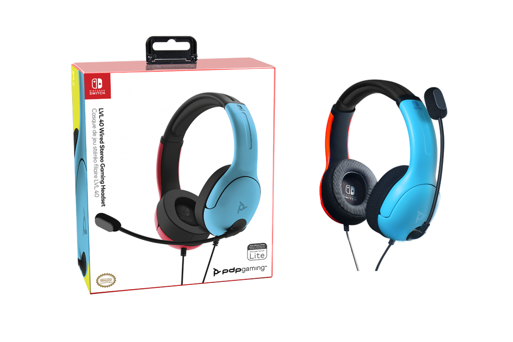 Official Nintendo Wired Headset LVL40 Switch Blue / Red_3
