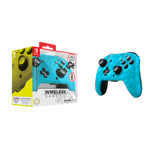 Official Faceoff Deluxe+ Audio Wireless Blue Controller NEW CAMO