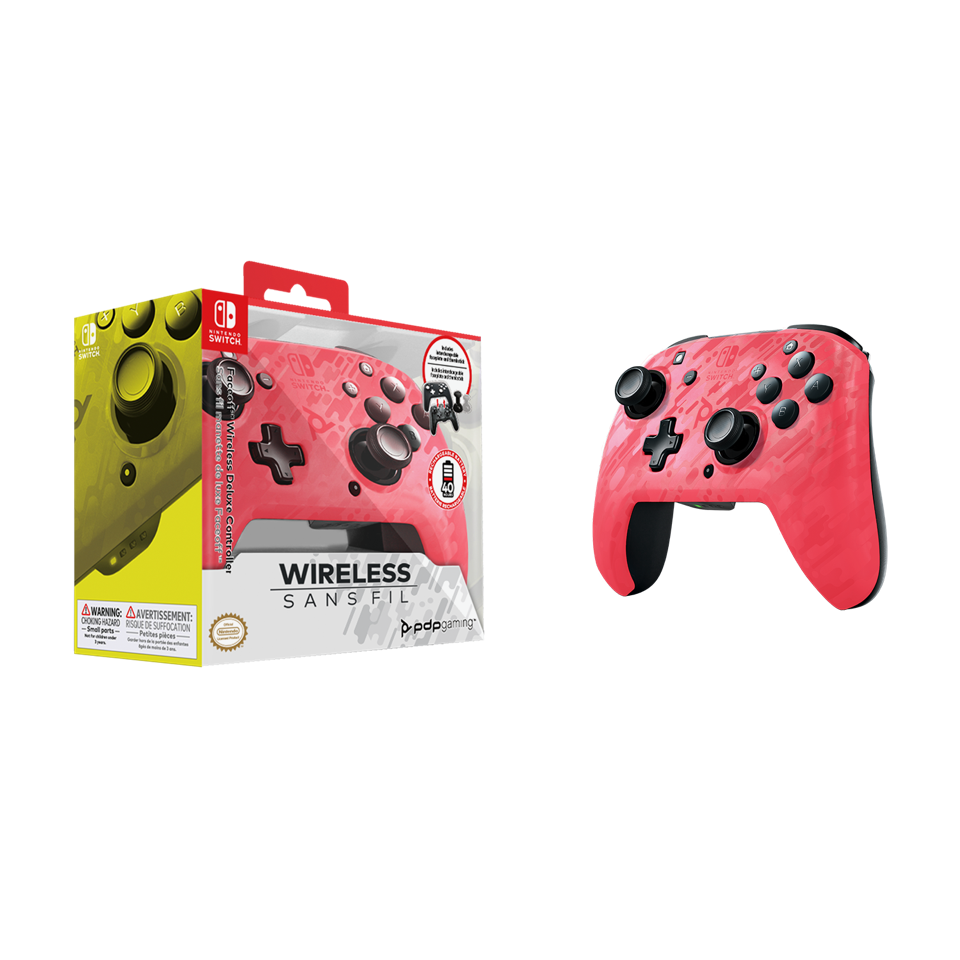 Official Faceoff Deluxe+ Wireless Pink Controller NEW CAMO_1