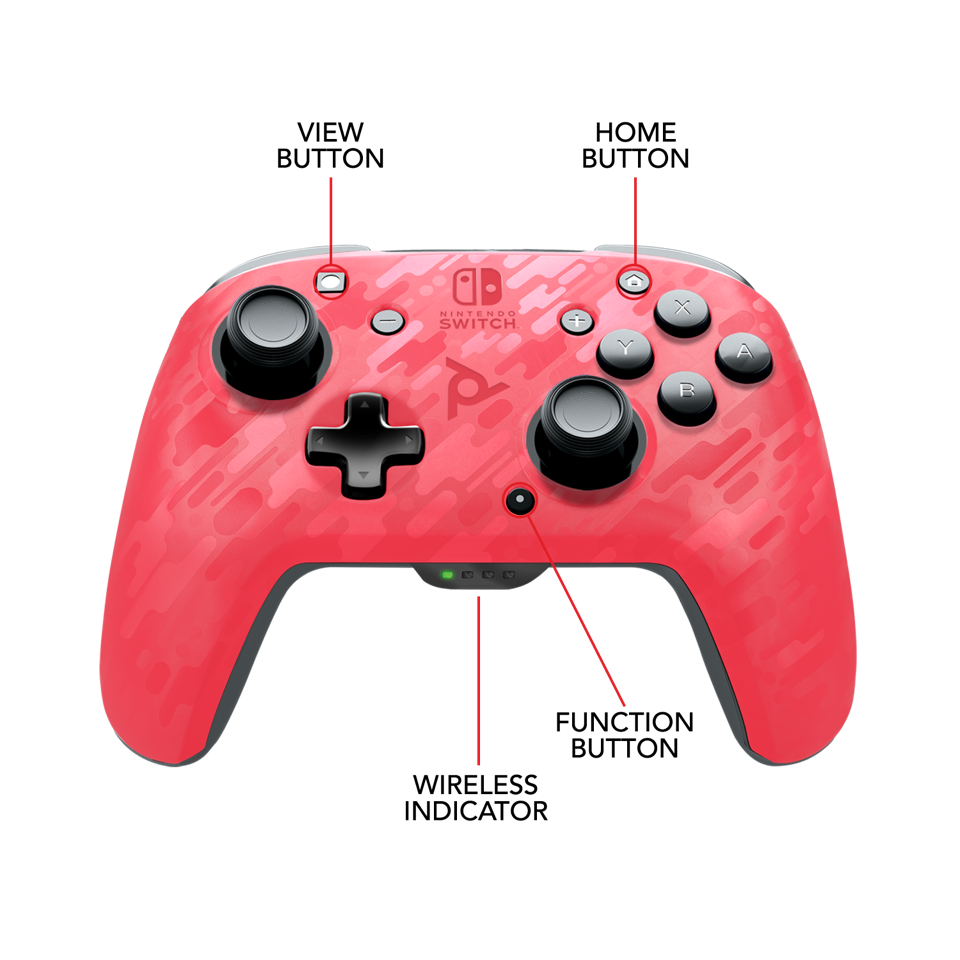 Official Faceoff Deluxe+ Wireless Pink Controller NEW CAMO_2