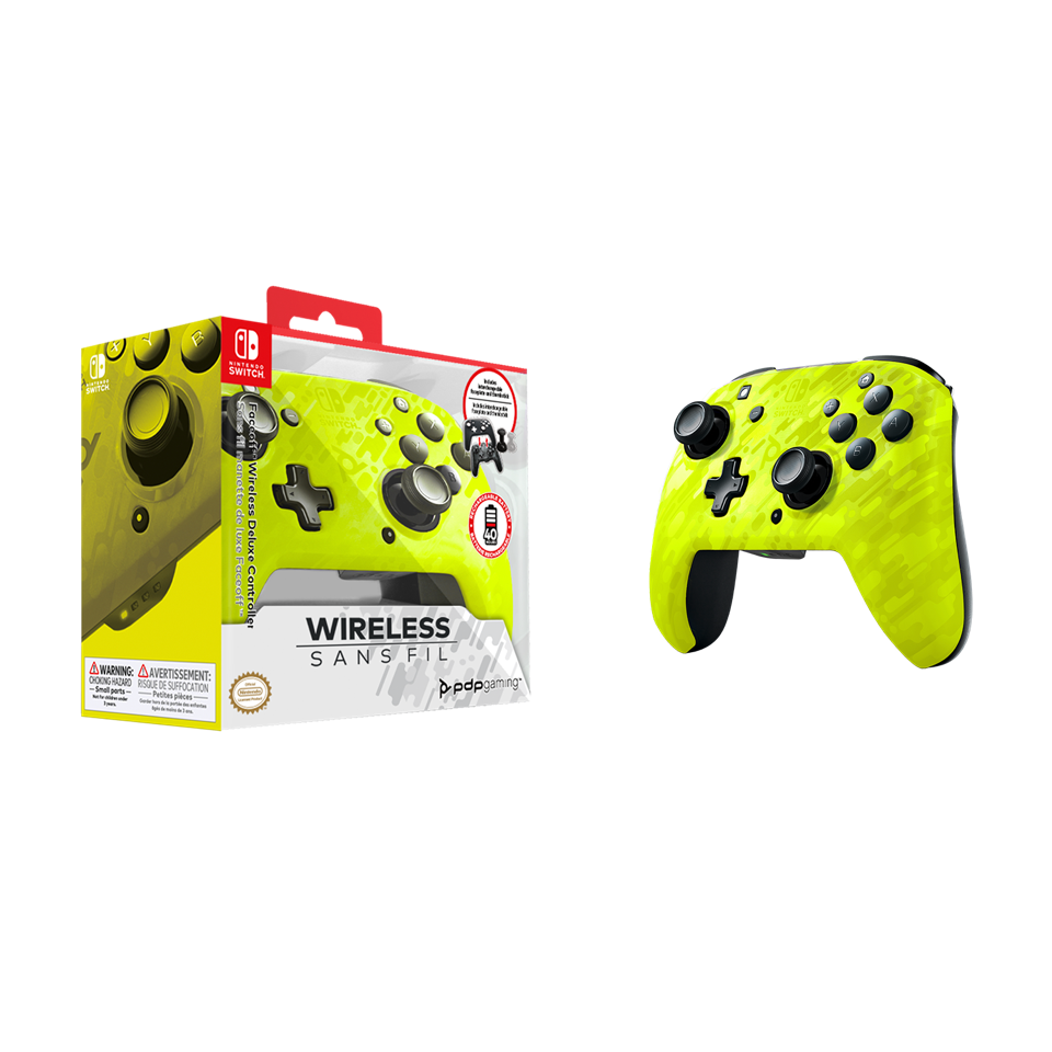 Official Faceoff Deluxe+ Wireless Yellow Controller NEW CAMO_1