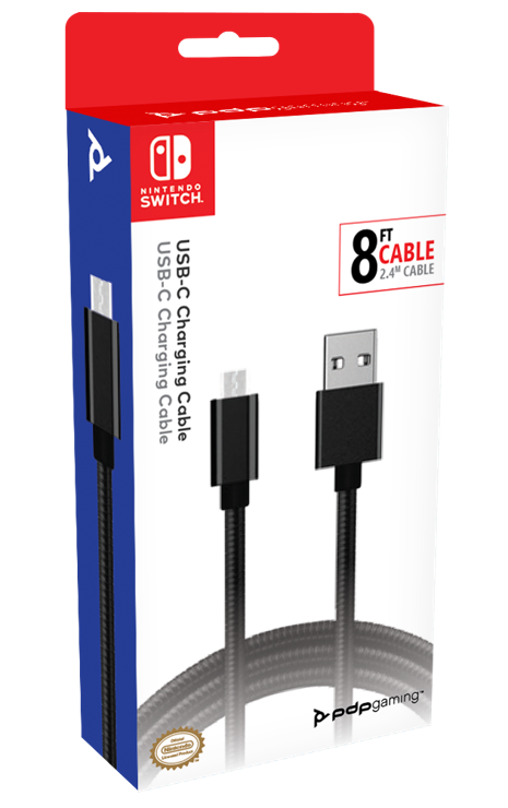 Official Switch Pro Charging Cable USB C - 2,4 m