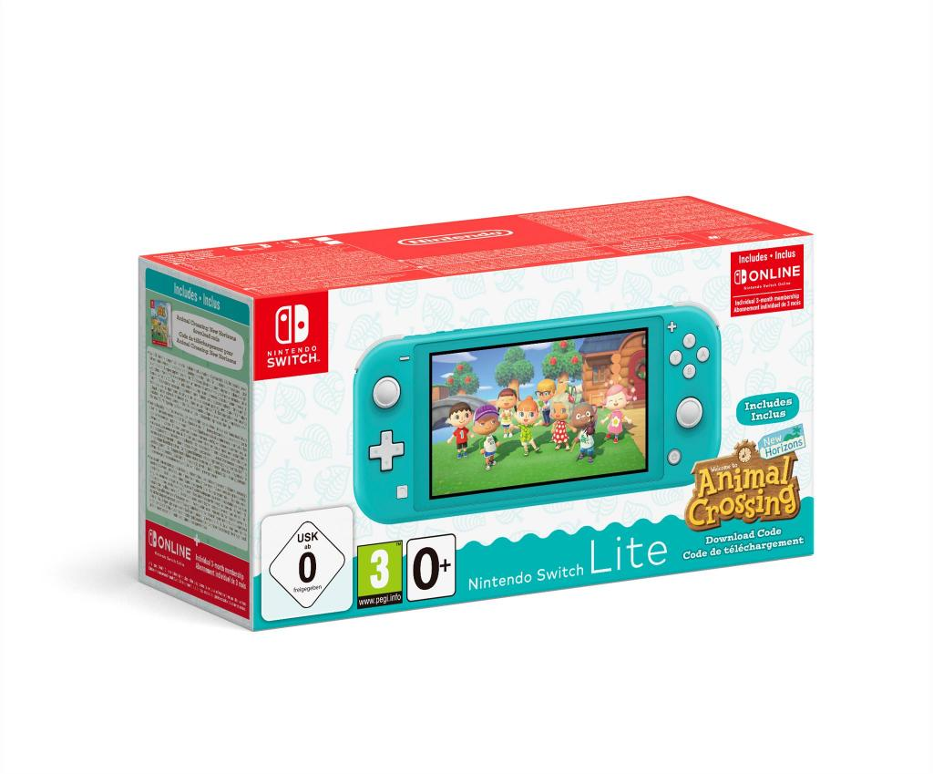 Console SWITCH LITE - Bundle Animal Crossing -Turquoise_1