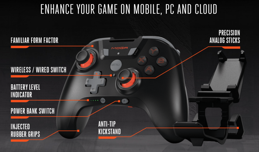 MOGA XP5A PLUS GAMING CONTROLLER MOBILE ANDROID / PC WIN 10 / CLOUD