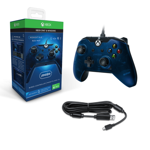PDP - Wired Controller Official Xbox One Blue