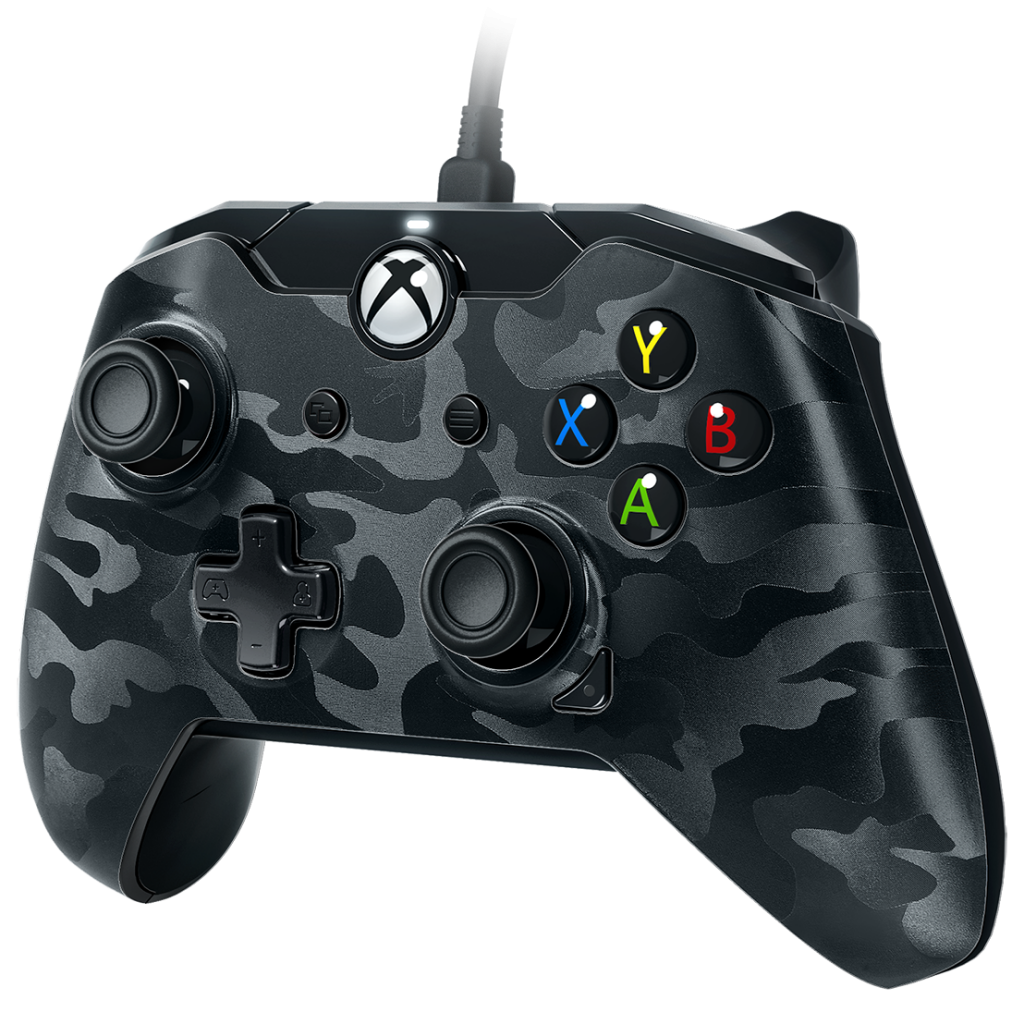 PDP - Wired Controller Official Xbox One Camo Black_1