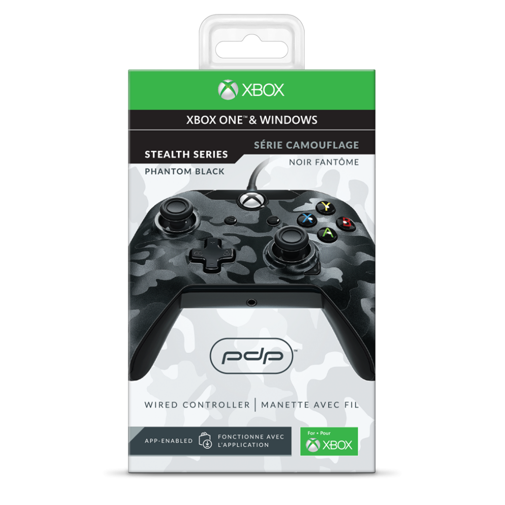 PDP - Wired Controller Official Xbox One Camo Black_2
