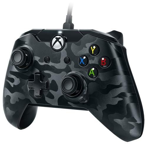 PDP - Wired Controller Official Xbox One Camo Black