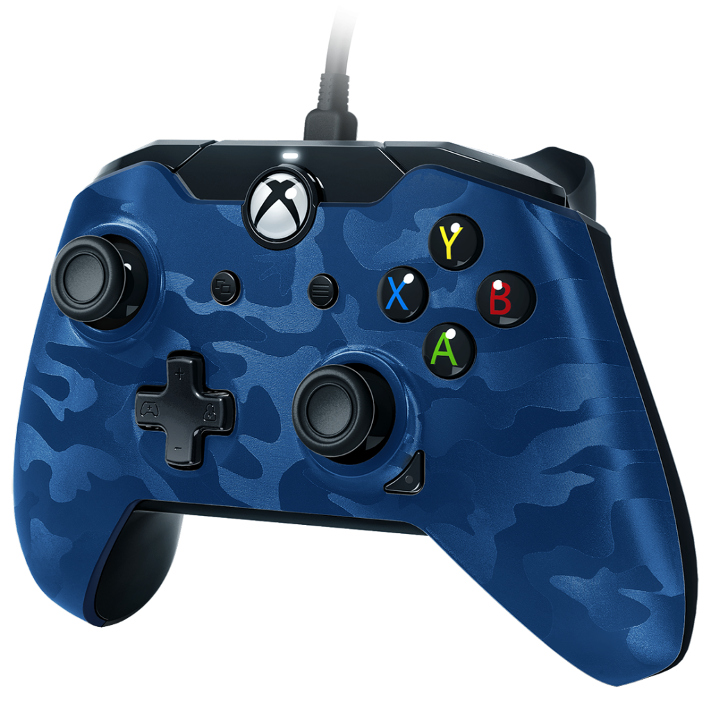 PDP - Wired Controller Official Xbox One Camo Blue_1