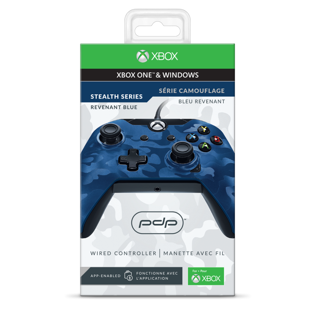 PDP - Wired Controller Official Xbox One Camo Blue_2