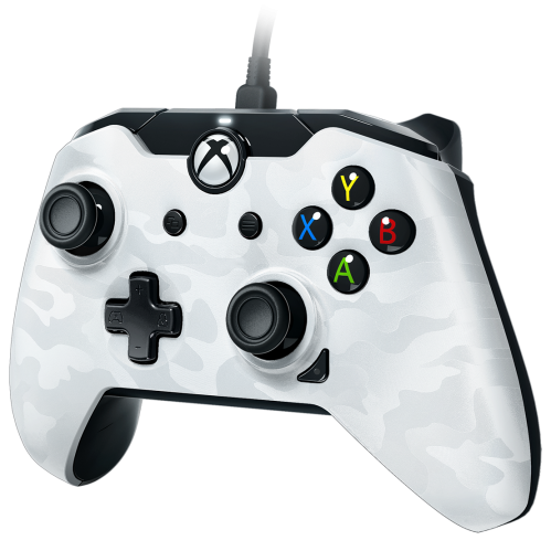 PDP - Wired Controller Official Xbox One Camo White