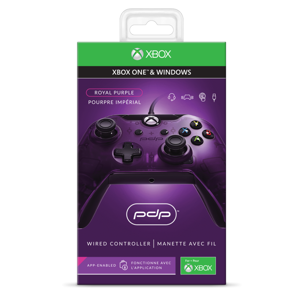 PDP - Wired Controller Official Xbox One Purple  - XBOX Series X_2