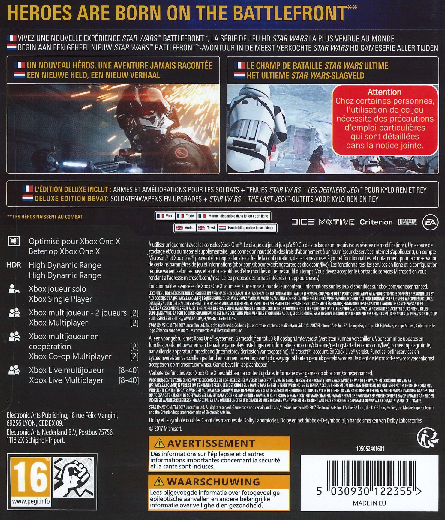 Star Wars Battlefront : les jaquettes de la Deluxe Edition