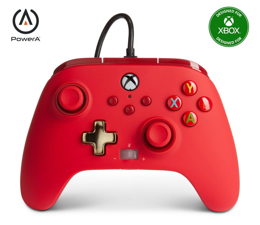 POWER A - Wired Controller Enhanced - Red Xbox Series X_1
