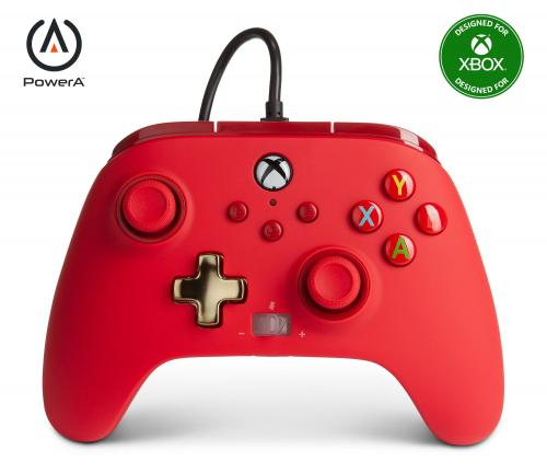 POWER A - Wired Controller Enhanced - Red Xbox Series X