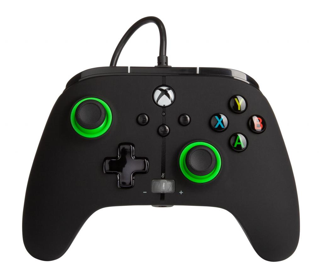 POWER A - Wired Controller Enhanced - Black/Green Xbox Series X_1