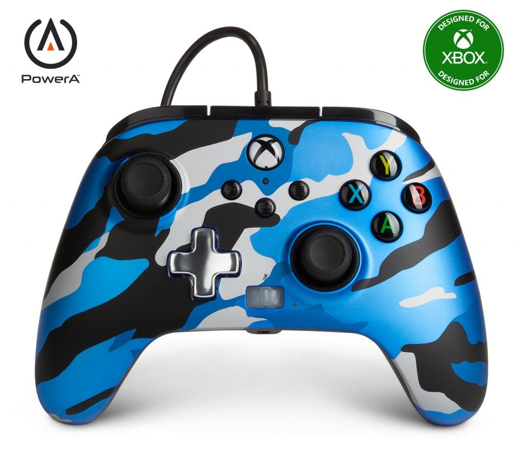POWER A - Wired Controller Enhanced - Camo Blue Xbox Series X_2