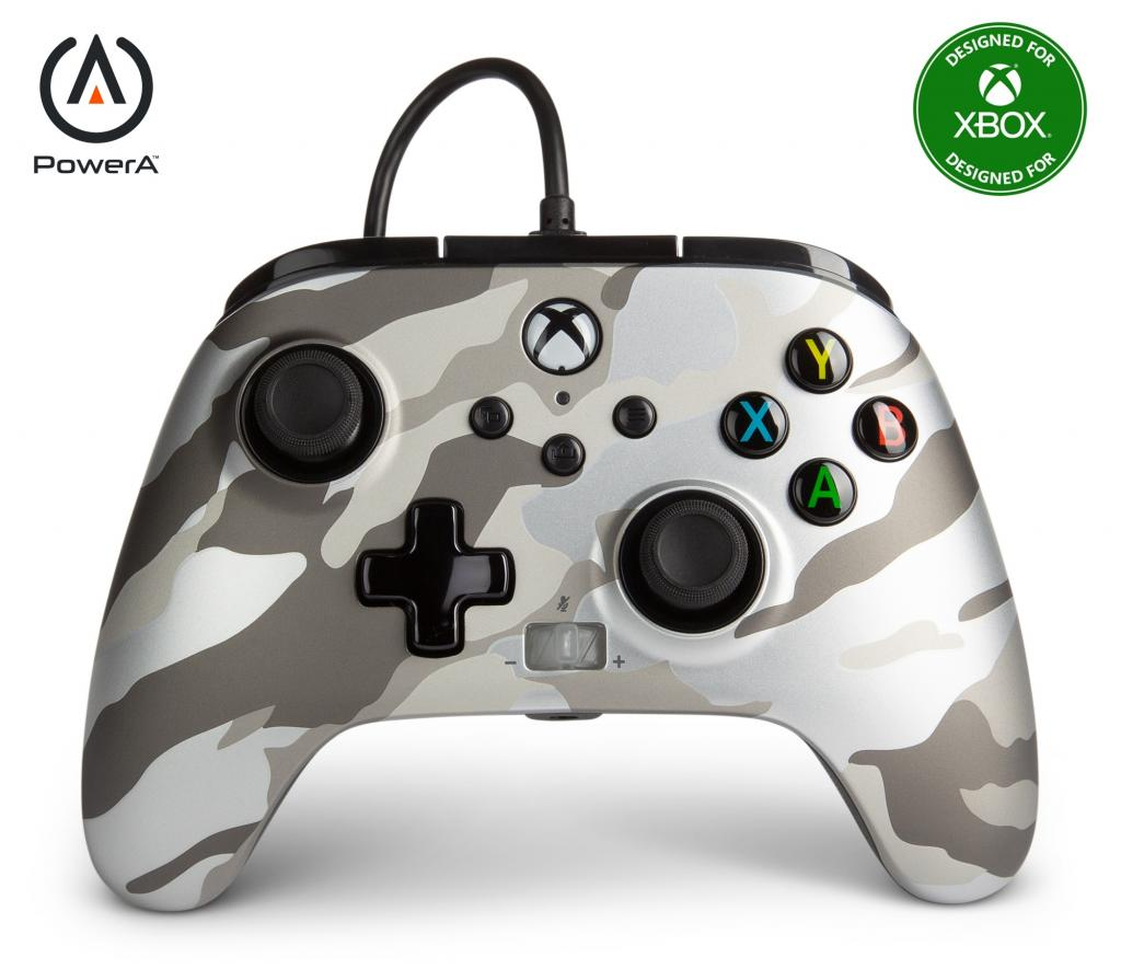 POWER A - Wired Controller Enhanced - Camo White Xbox Series X_1